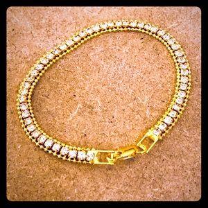 Jewelry - 18k GP Diamond Chain Fashion Bracelet
